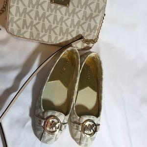 Michael Kors crossbody purse and shoes